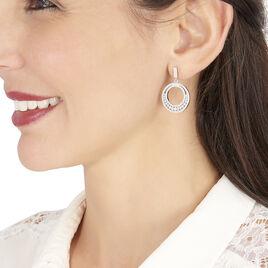 Boucles D'oreilles Pendantes Alba Argent Blanc Oxyde De Zirconium - Boucles d'Oreilles Lune Femme | Histoire d'Or