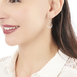 Boucles D'oreilles Pendantes Nicole Argent Blanc Oxyde De Zirconium - Boucles d'oreilles fantaisie Femme | Histoire d'Or