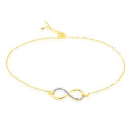 Bracelet Infino Or Jaune Diamant - Bracelets Infini Femme | Histoire d'Or