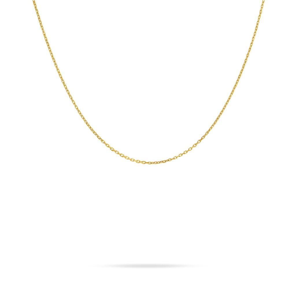 Chaîne Igoa Maille Forçat Diamantee Or Jaune - Chaines Femme   Histoire d'Or