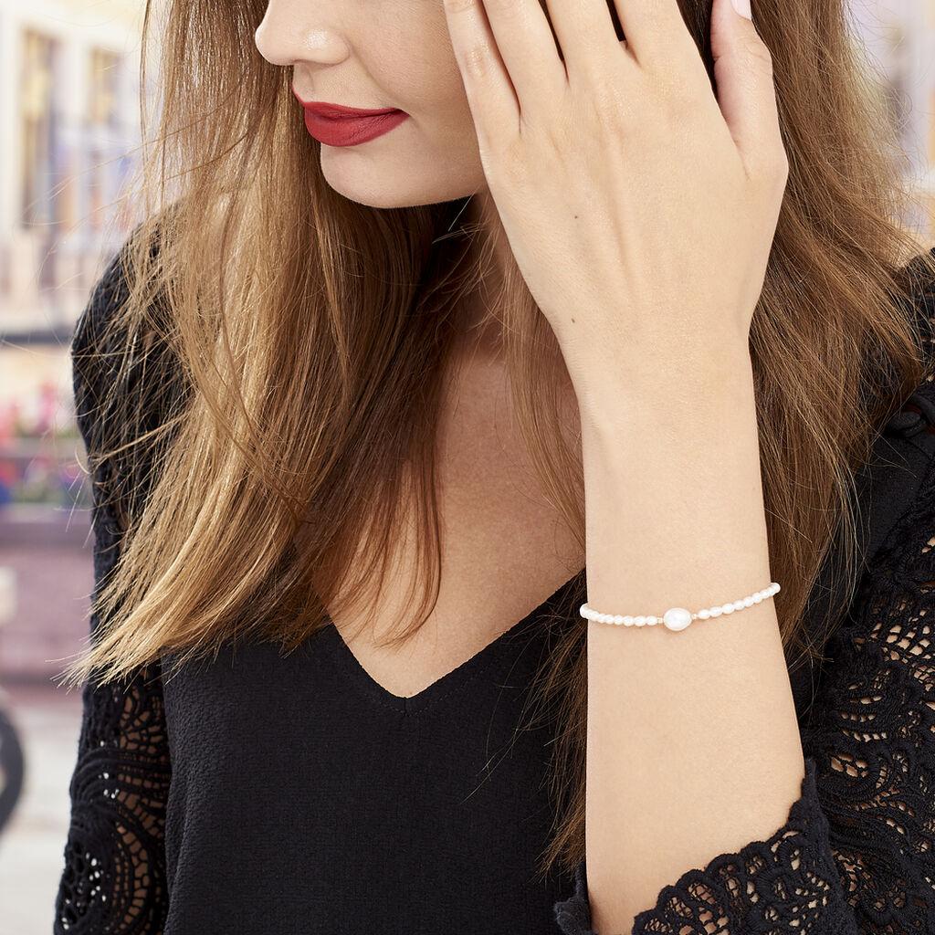 Bracelet Akil Or Jaune Perle De Culture - Bijoux Femme   Histoire d'Or