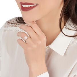 Bague Maria-theresa Or Jaune Perle De Culture Et Oxyde De Zirconium - Bagues avec pierre Femme | Histoire d'Or