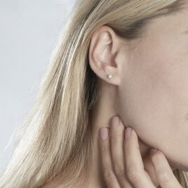 Boucles D'oreilles Puces Grace Or Jaune Diamants  - Clous d'oreilles Femme   Histoire d'Or