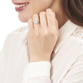 Bague Fidjy Argent Blanc Oxyde De Zirconium - Bagues avec pierre Femme   Histoire d'Or