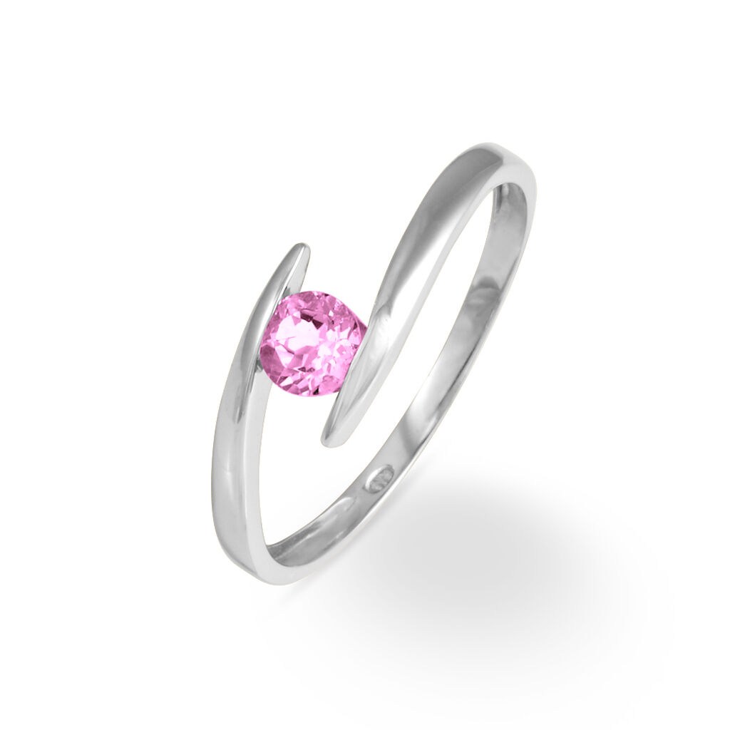 Bague Tiphaine Or Blanc Tourmaline
