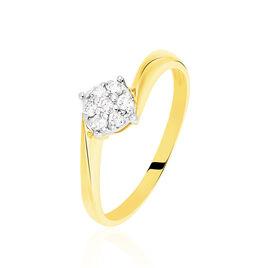 Bague Solitaire Lysia Or Jaune Diamant - Bagues solitaires Femme | Histoire d'Or