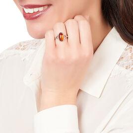Bague Aschley Argent Blanc Ambre - Bagues solitaires Femme | Histoire d'Or