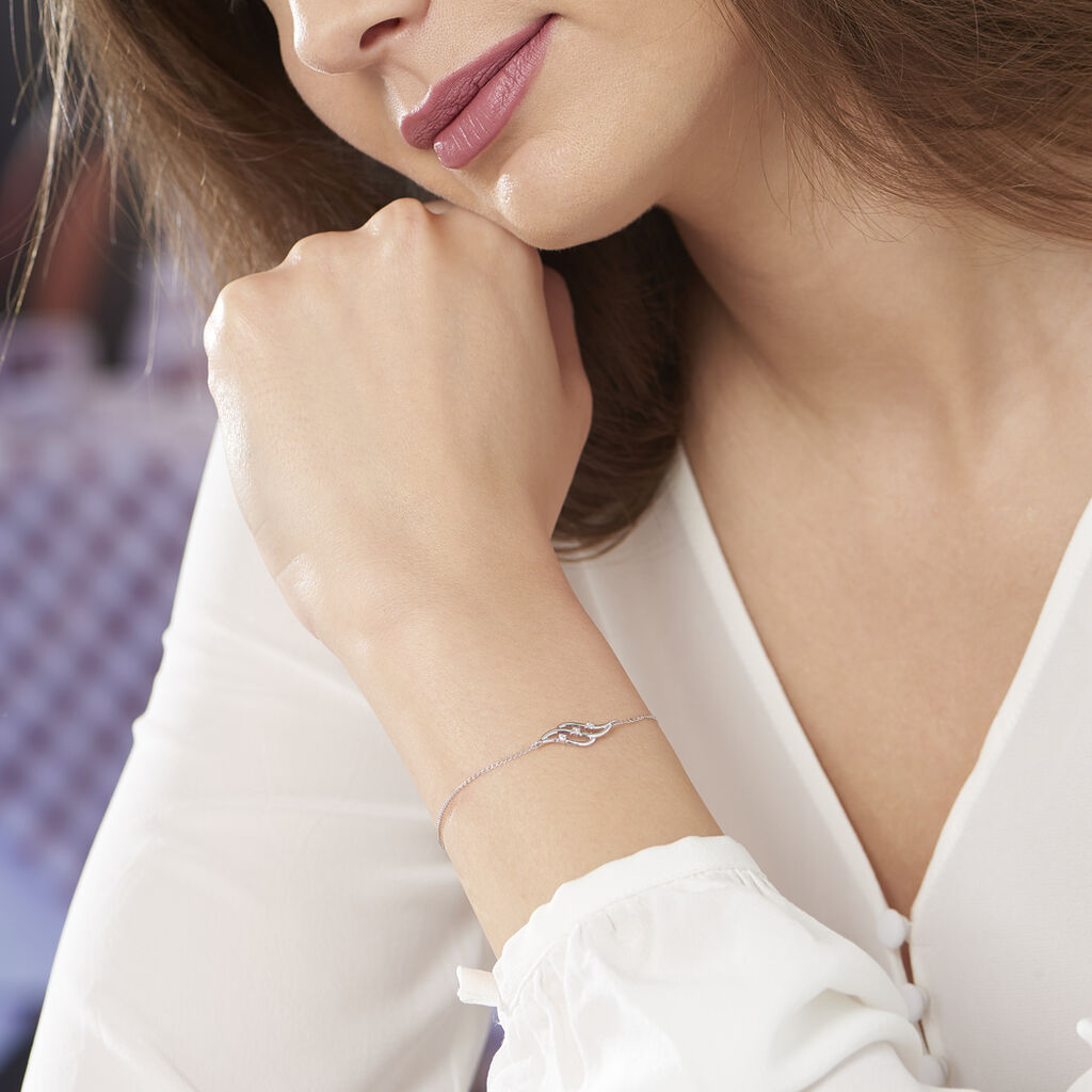 Bracelet Marnie Or Blanc Diamant - Bijoux Femme   Histoire d'Or