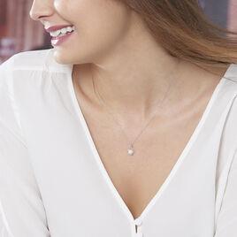 Collier Davy Or Blanc Perle De Culture Et Diamant - Bijoux Femme | Histoire d'Or