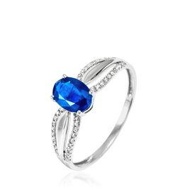 Bague Tevy Or Jaune Saphir Et Diamant - Bagues avec pierre Femme   Histoire d'Or