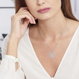 Collier Argent Rosace Perles D'imitation - Colliers fantaisie Femme | Histoire d'Or