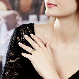 Bague Brit Plaque Or Jaune Pierre De Synthese - Bagues solitaires Femme | Histoire d'Or