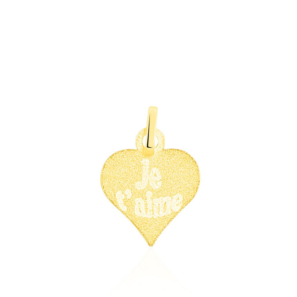 Pendentif Eudocie Coeur Message Or Jaune - Pendentifs Coeur Femme | Histoire d'Or