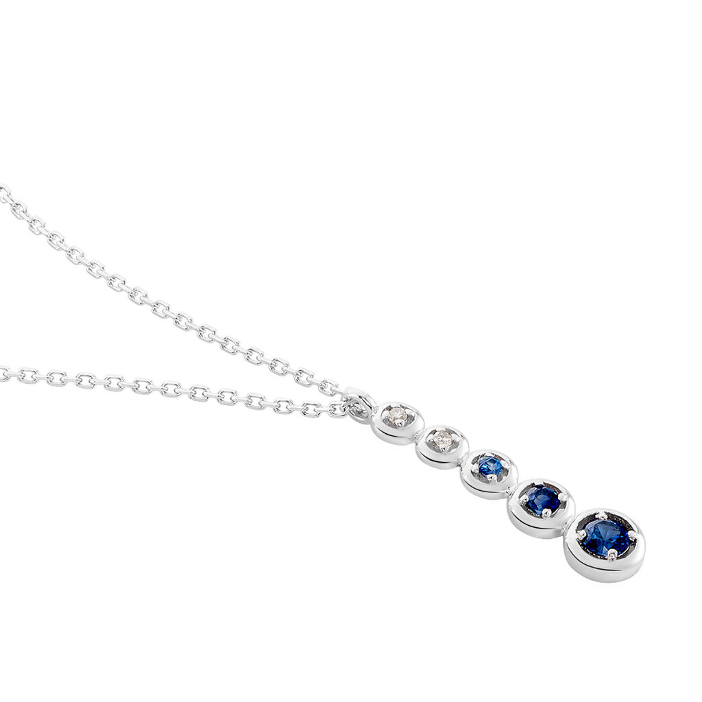 Collier Josephine Or Blanc Saphir Et Diamant - Bijoux Femme | Histoire d'Or