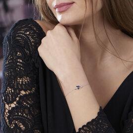 Bracelet Angie Or Blanc Saphir Diamant - Bijoux Femme | Histoire d'Or