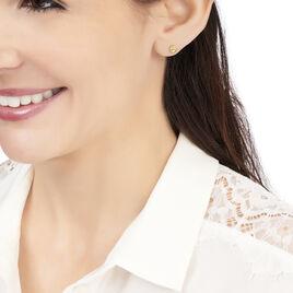 Boucles D'oreilles Puces Fidelia Boule Or Jaune - Clous d'oreilles Femme | Histoire d'Or