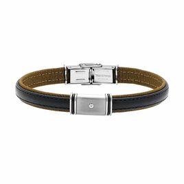 Bracelet Jihade Acier Blanc Diamant - Bracelets fantaisie Homme | Histoire d'Or