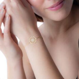 Bracelet Rosace Or Jaune - Bijoux Femme | Histoire d'Or