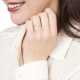 Bague Adhira Or Jaune Diamant - Bagues avec pierre Femme | Histoire d'Or