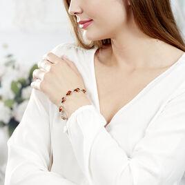 Bracelet Lucreciaae Argent Blanc Ambre - Bijoux Femme   Histoire d'Or