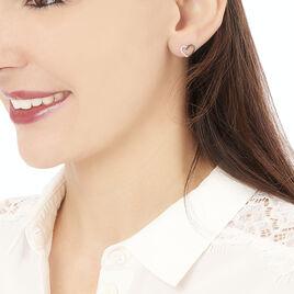 Boucles D'oreilles Puces Freya Or Blanc Diamant - Boucles d'Oreilles Coeur Femme | Histoire d'Or
