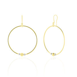 Créoles Rosa Billes Diamantees Or Jaune - Boucles d'oreilles créoles Femme | Histoire d'Or