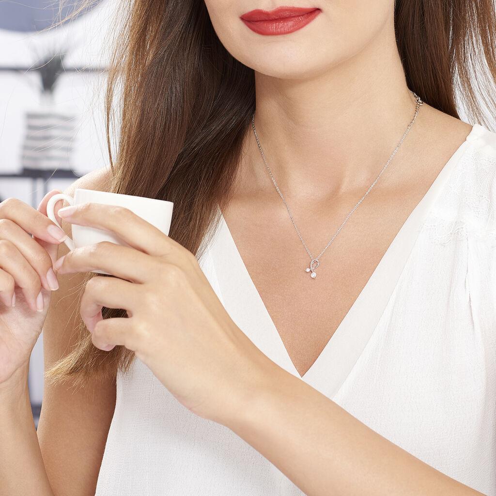Collier Briaga Argent Blanc Oxyde De Zirconium - Colliers fantaisie Femme | Histoire d'Or