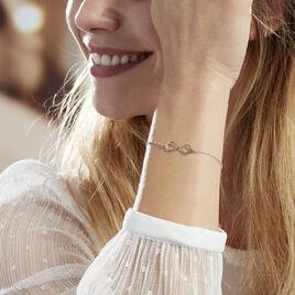 Bracelet Filomene Argent Blanc - Bracelets Infini Femme | Histoire d'Or