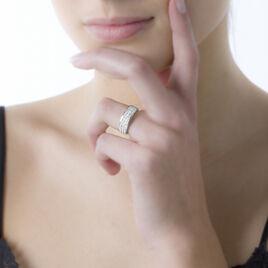 Bague Morjana Or Blanc Oxyde De Zirconium - Bagues avec pierre Femme   Histoire d'Or