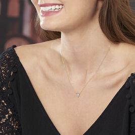 Collier Juliete Or Jaune Aigue Marine - Bijoux Femme   Histoire d'Or