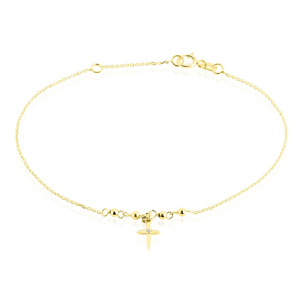 Bracelet Annaelle Or Jaune - Bracelets Croix Femme   Histoire d'Or