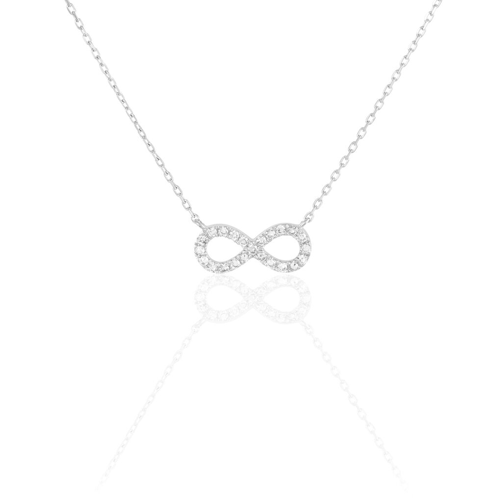 Collier Infini Empierre Or Blanc Diamant - Colliers Infini Femme   Histoire d'Or