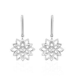 Boucles D'oreilles Pendantes Italane Or Blanc Diamant - Boucles d'oreilles pendantes Femme | Histoire d'Or