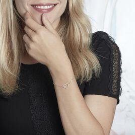 Bracelet Gasparde Argent Blanc Oxyde De Zirconium - Bracelets Coeur Femme | Histoire d'Or