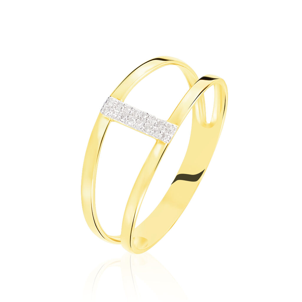 Bague Deborah Or Jaune Diamant