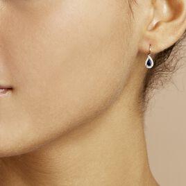 Boucles D'oreilles Pendantes Doorsie Or Jaune Saphir Et Diamant - Boucles d'oreilles pendantes Femme | Histoire d'Or