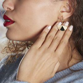 Créoles Acier Dore Sunshine - Boucles d'oreilles créoles Femme   Histoire d'Or