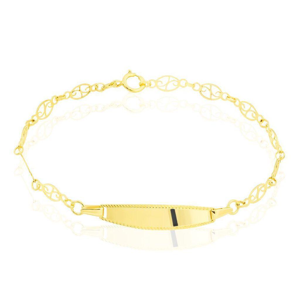 Bracelet Identité Eudoxie Maille Filigrane Or Jaune - Bracelets Communion Enfant | Histoire d'Or