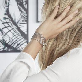 Bracelet Jonc Andor Acier Blanc - Bracelets Plume Femme | Histoire d'Or