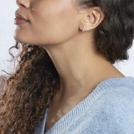 Boucles D'oreilles Pendantes Stephania Argent Blanc Oxyde De Zirconium - Boucles d'oreilles fantaisie Femme | Histoire d'Or