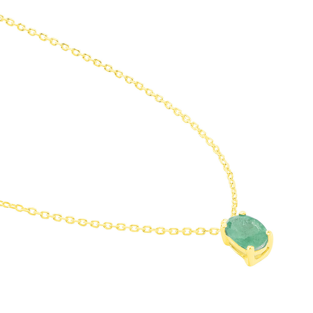 Collier Ovale Or Jaune Emeraude - Bijoux Femme | Histoire d'Or