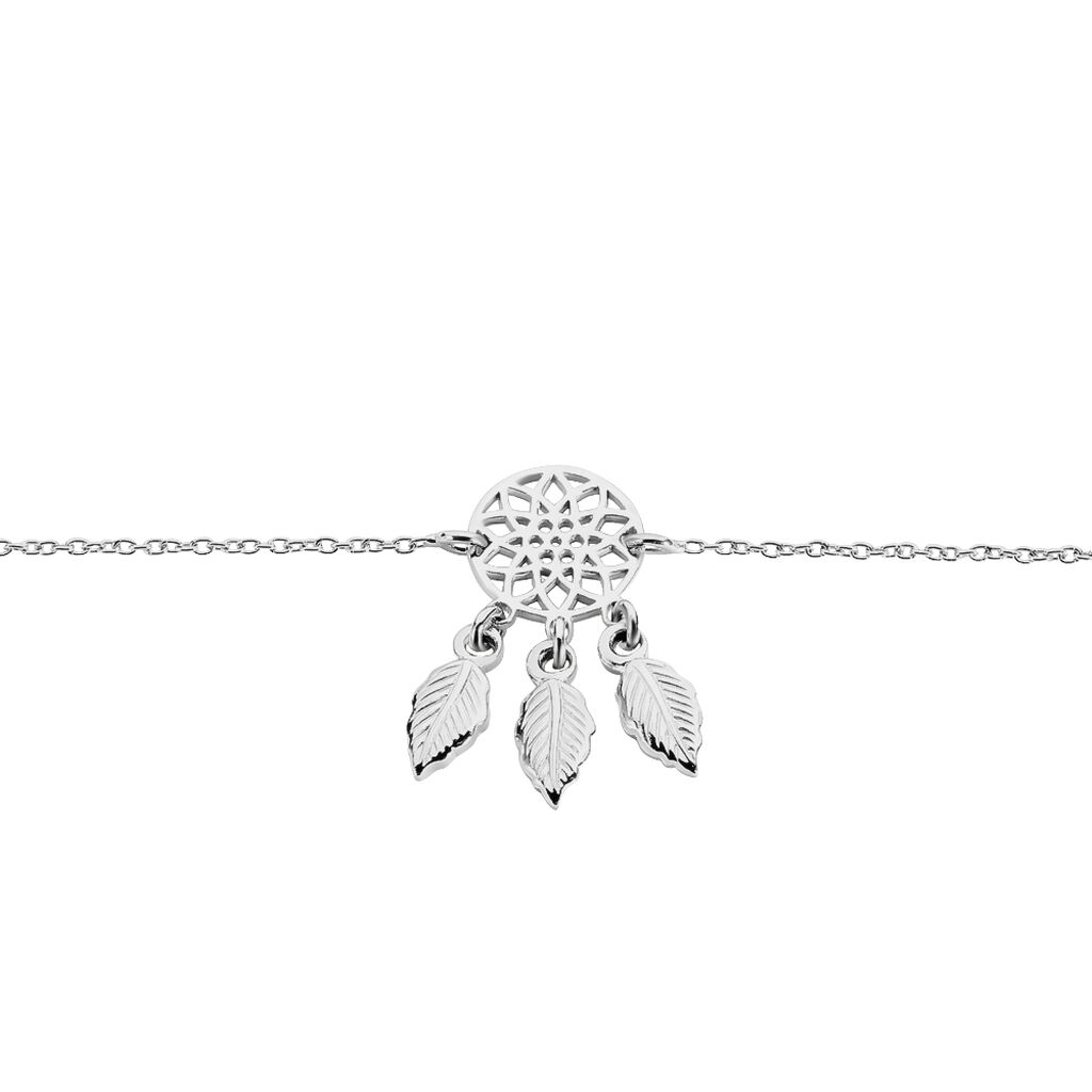 Bracelet Ida Argent Blanc - Bracelets Attrape rêves Femme | Histoire d'Or