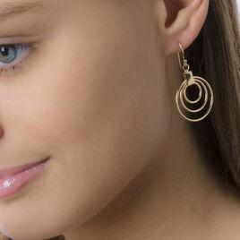 Boucles D'oreilles Pendantes Ylena Plaque Or Jaune - Boucles d'oreilles fantaisie Femme   Histoire d'Or