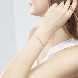 Bracelet Love Love Argent Rose Coeurs - Bracelets Coeur Femme | Histoire d'Or