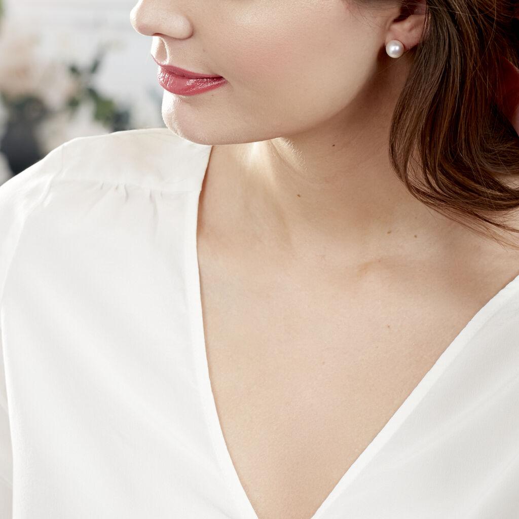 Boucles D'oreilles Puces Suki Or Jaune Perle De Culture - Clous d'oreilles Femme   Histoire d'Or
