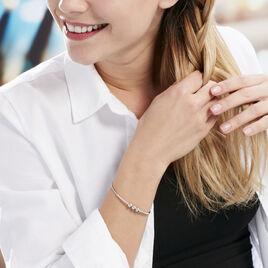 Bracelet Jonc Atlantis Argent Blanc - Bracelets fantaisie Femme | Histoire d'Or