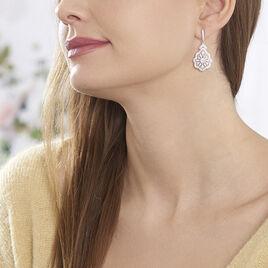 Boucles D'oreilles Pendantes Fellicia Argent Blanc Oxyde De Zirconium - Boucles d'oreilles pendantes Femme | Histoire d'Or