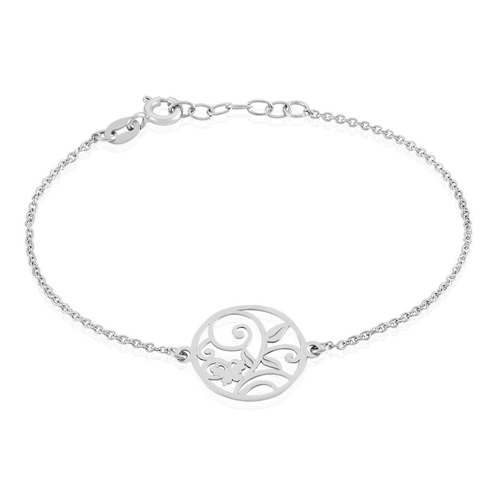 Bracelet Hita Argent Blanc - Bracelets Papillon Femme   Histoire d'Or