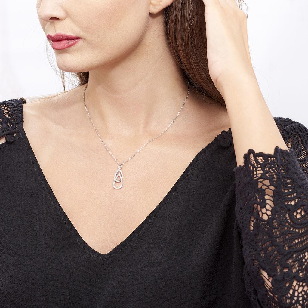 Collier Petie Argent Blanc Oxyde De Zirconium - Colliers fantaisie Femme | Histoire d'Or