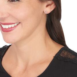 Boucles D'oreilles Pendantes Gloria Or Rose Diamant - Boucles d'oreilles pendantes Femme | Histoire d'Or